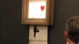 Картина Бенксі самоуничтожилась після продажу на аукціоні sotheby's