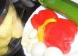 Деруни з перцем і кабачком